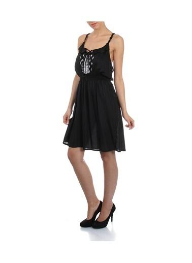 T-Box Elbise Siyah